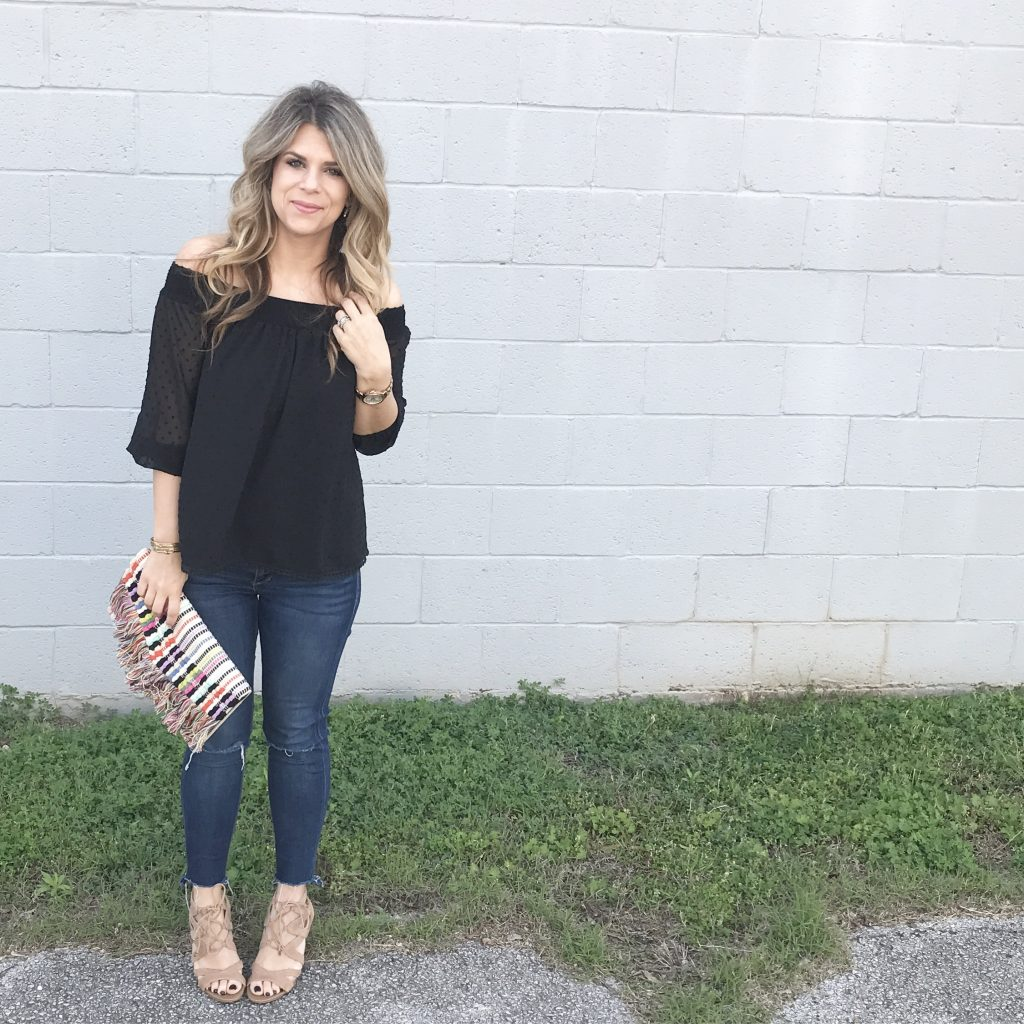 Off the Shoulder Date Night Style