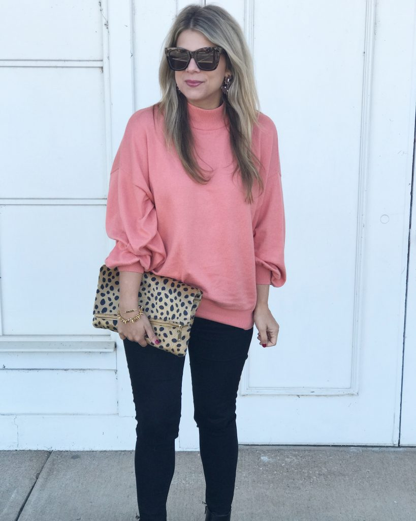 Coral Sweater, Nordstrom, Statement Sleeve, Fall Style