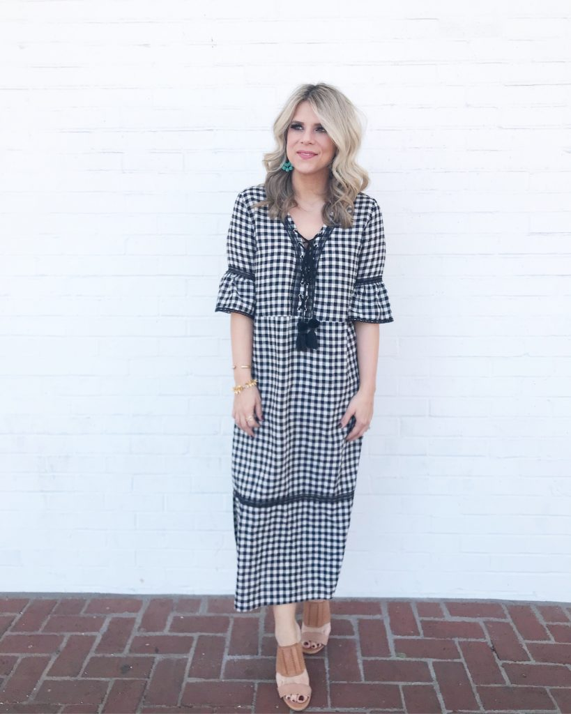 Shoplindsey, Gingham Dress, Maxi Dress, Spring Style, Style blogger, Fashion blogger, Midi Dress