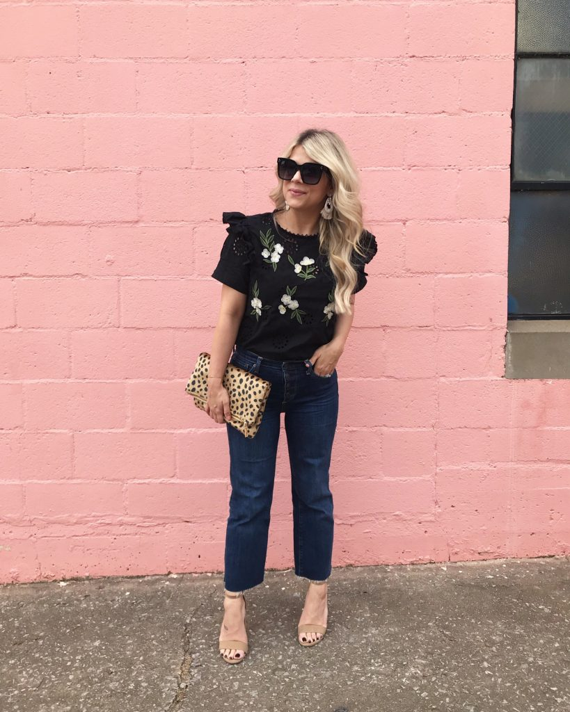 Leopard Clutch, Pink Wall, Spring Style