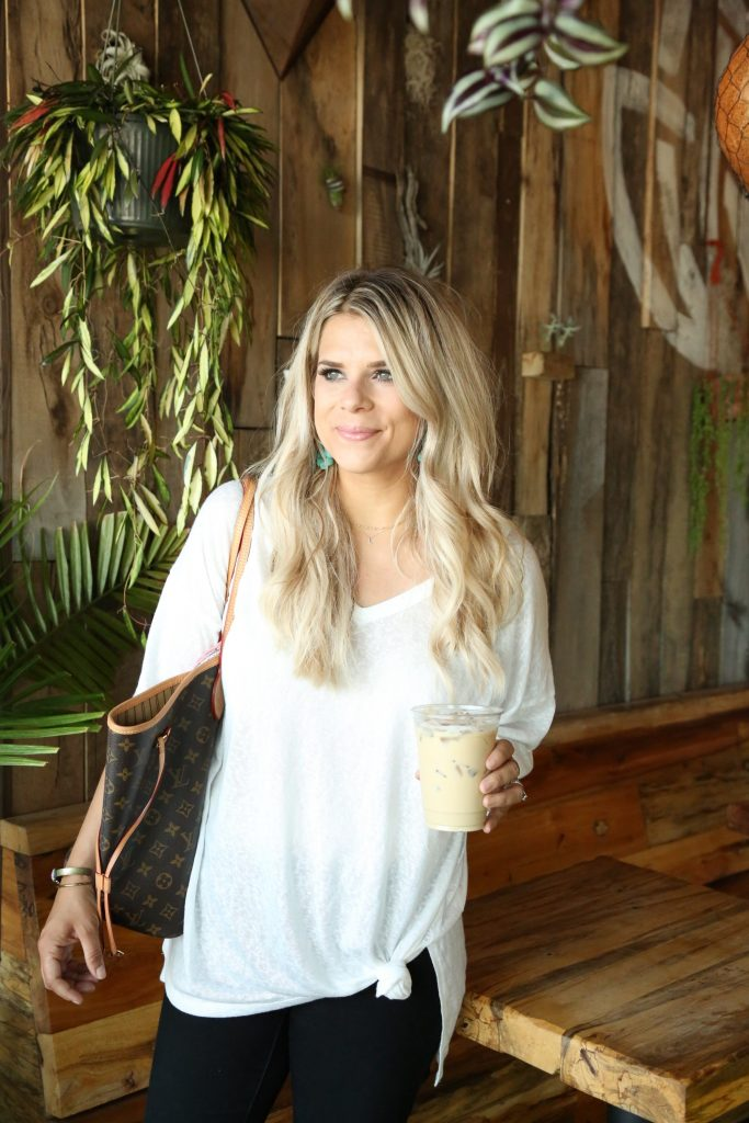 WHITE TEE, NEVERFULL, STELLA & DOT, OVERSIZED TEE
