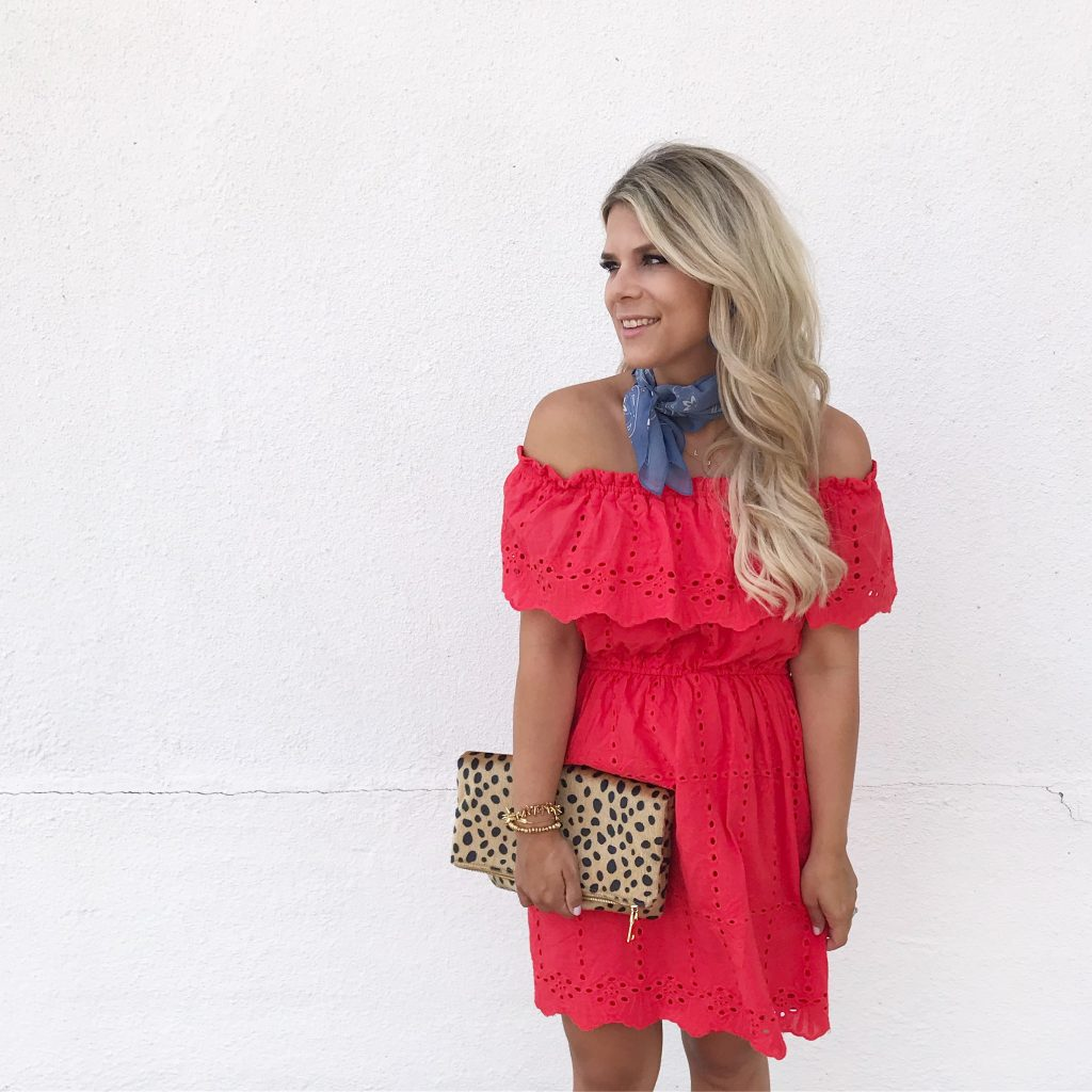 Miss Match, Off The Shoulder Dress, Summer Style, 4th of July, Fourth of July