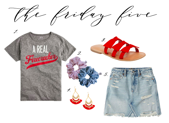 Fourth Of July, Friday Five, Scrunchies, Stella Dot