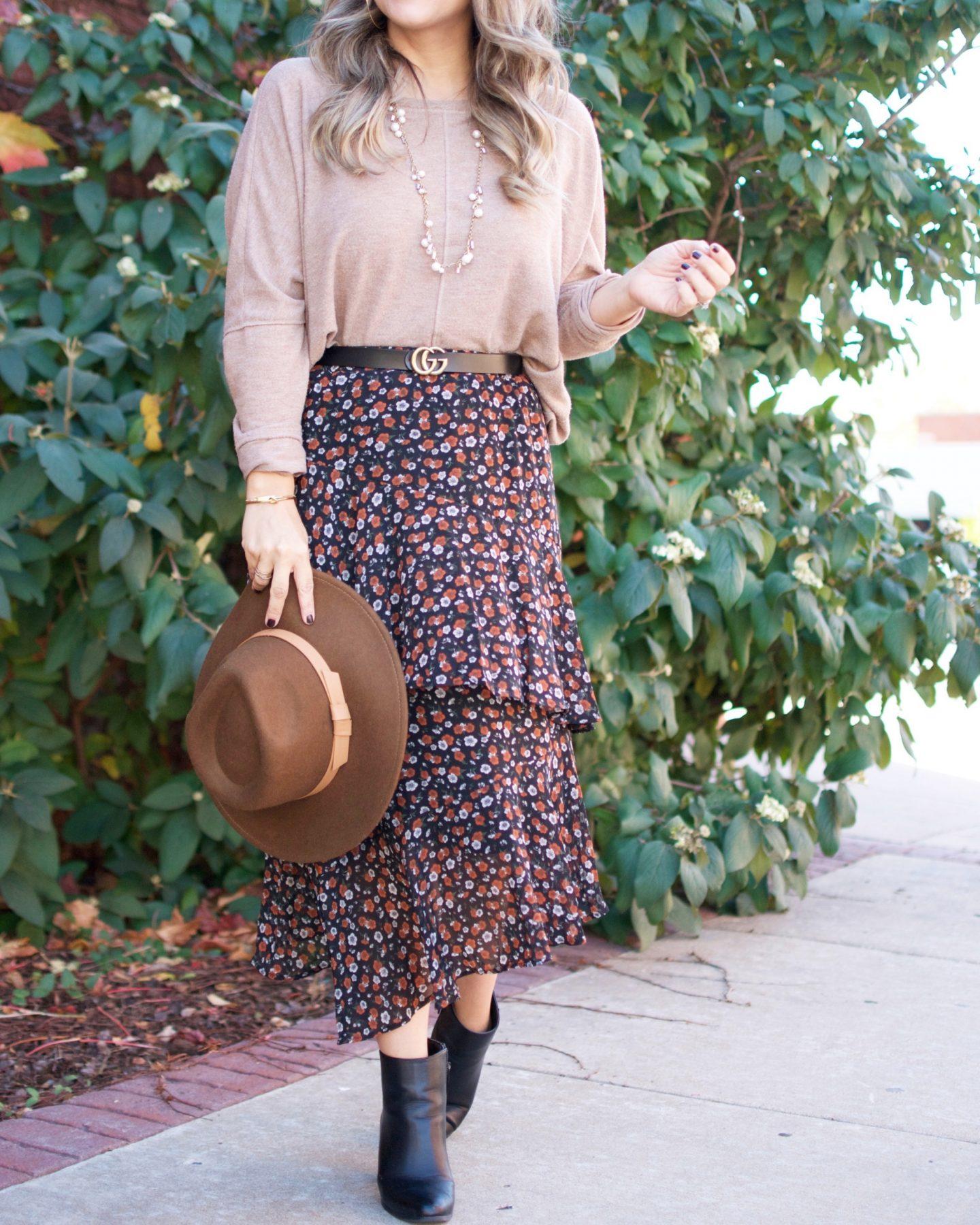 Target Style, Stella Dot, Nordstrom, fall Style, Midi Skirt