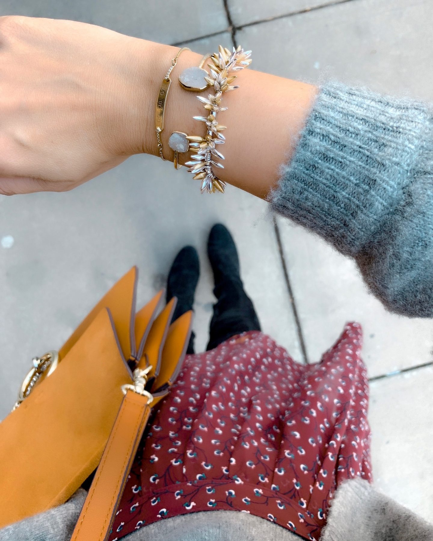 How to create an arm party, bracelet stack, Stella & Dot, Renegade Bracelet