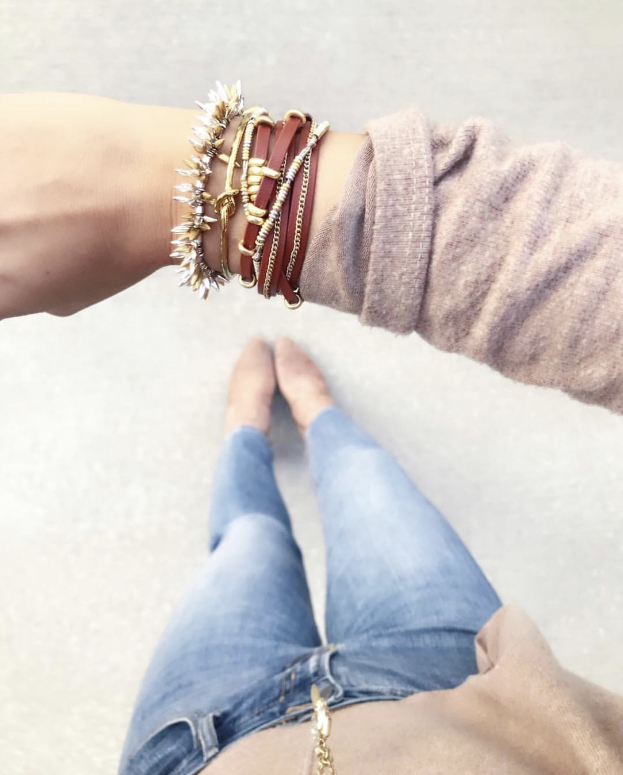 How to create an arm party, bracelet stack, Stella & Dot, Renegade Bracelet,