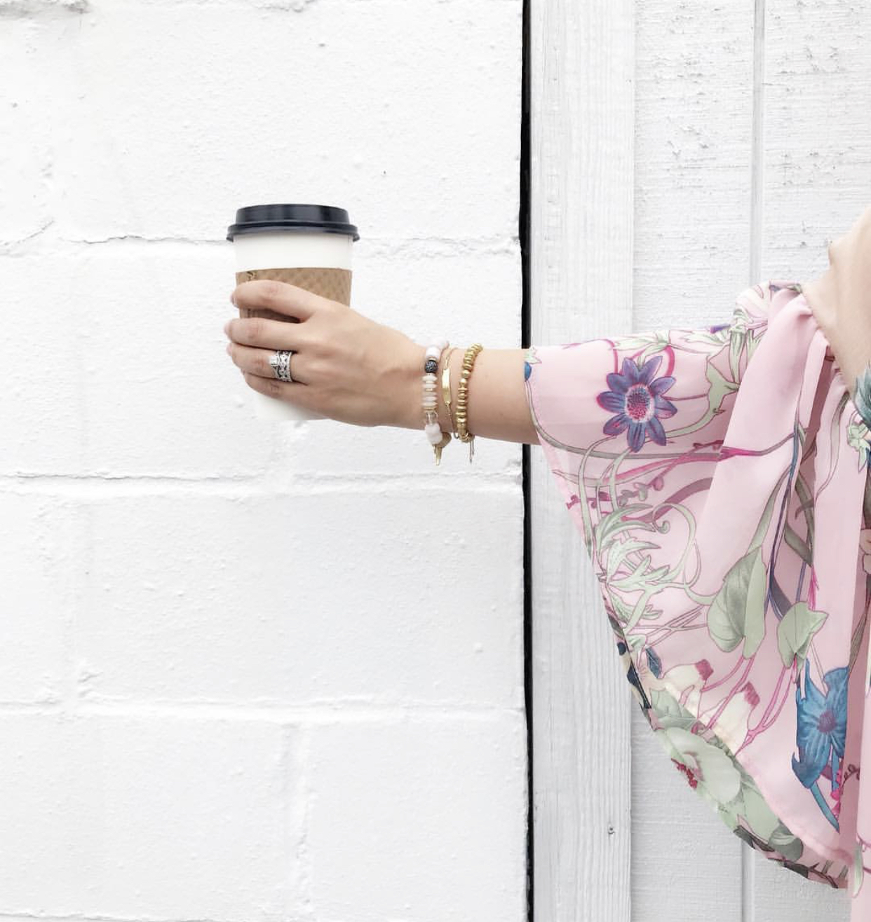 How to create an arm party, bracelet stack, Stella & Dot, Coffee, Springs Style, Kimono