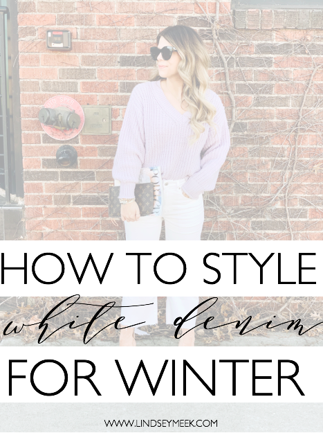 How to style white denim for Winter, Winter Style, White Jeans