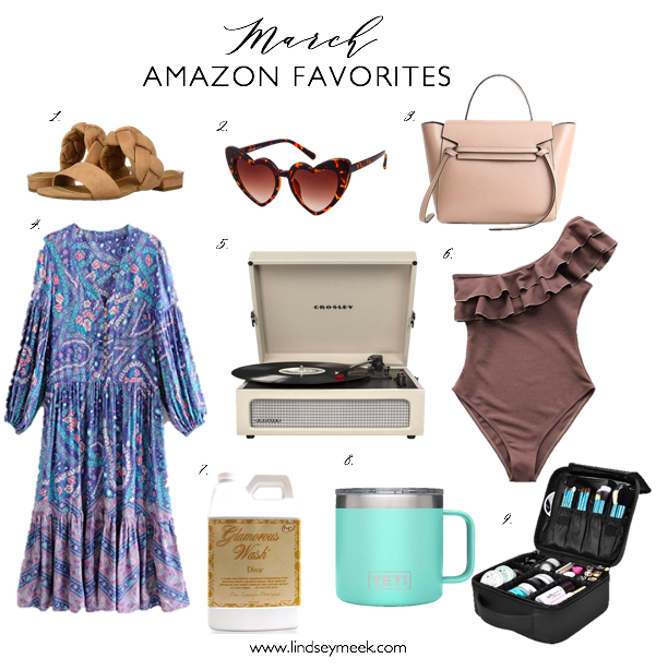 Amazon Finds, Nude Sandals, Boho Maxi Dress, Crosley, Glamorous Wash, Amazon Make Up Case, Heart Sunglasses