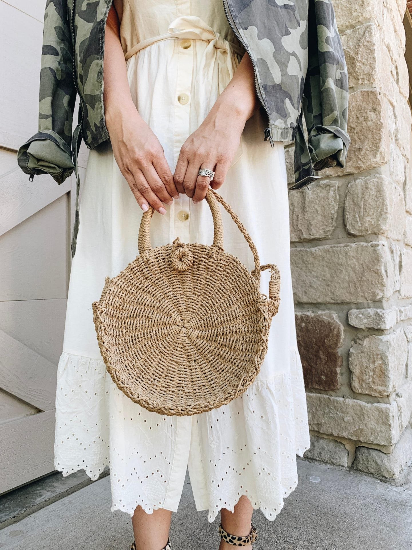 Must have Summer Bags, Old Navy Style, Straw bag, How to style a white dress