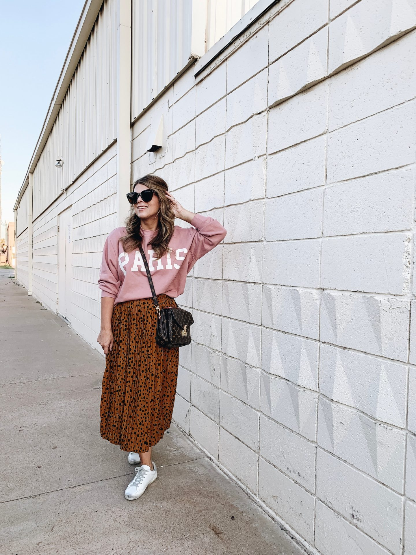 Graphic tee, Paris, leopard skirt, Golden Goose, Le Spec, Casual Style, Target Style